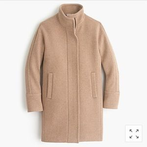 J. Crew stadium-cloth cocoon coat tan size 0